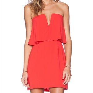 NWT BCBGMaxazria Red Strapless Mini Cocktail Dress